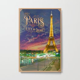 Paris Travel Poster Metal Print