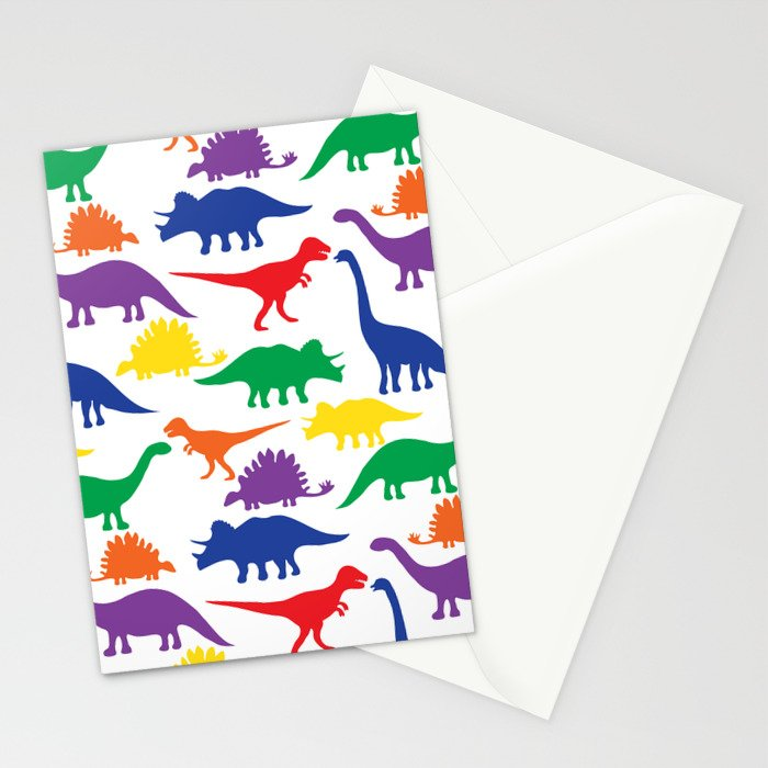 Dinosaurs - White Stationery Cards