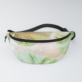 Pearlescent mosaic and plants Fanny Pack