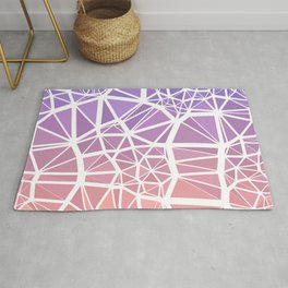 Pink and Purple Low Poly Stained Glass Mosaic Gradient Rug