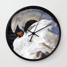 The Peaceful Swan Art Wall Clock