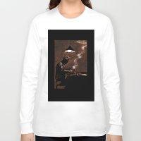 bar Long Sleeve T-shirts featuring Noir Bar by David Miley