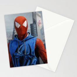 Scarlet Spider-Man Drawing (Background) Stationery Cards