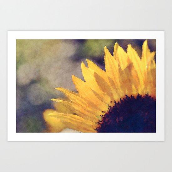 Another sunflower - Flower Flowers Summer Art Print
