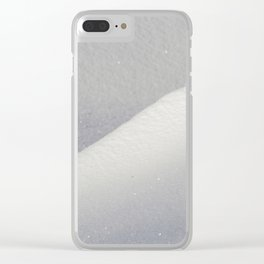 Deep snow drifts Clear iPhone Case