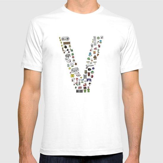 letter V - Nintendo Classics T-shirt