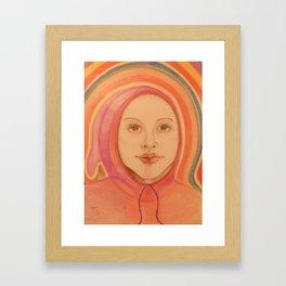 Face in the Rainbow Framed Art Print