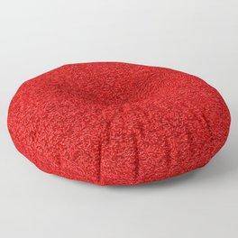 Rose Red Shag pile carpet pattern Floor Pillow