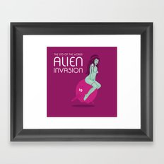 Alien Invasion Framed Art Print