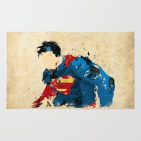 man of steel Area & Throw Rugs featuring Man of Steel by ALmighty1080