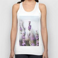 lavender Tank Tops featuring Lavender by Julia Dávila-Lampe