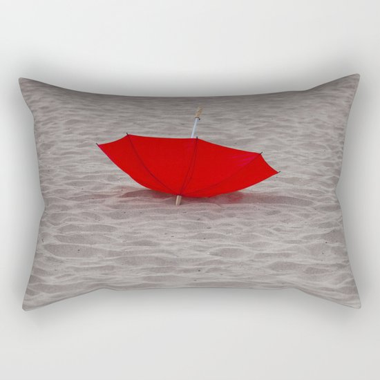 Lost red Umbrella Rectangular Pillow