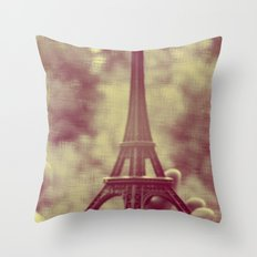 holding the tower Throw Pillow