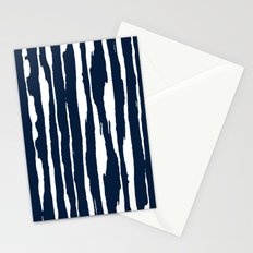 Blue- White- Stripe - Stripes - Marine - Maritime - Navy - Sea - Beach - Summer - Sailor 5 Stationery Cards