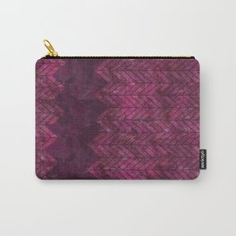 Painted Chevron Carry-All Pouch