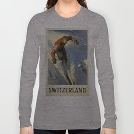 Vintage poster - Switzerland Long Sleeve T-shirt