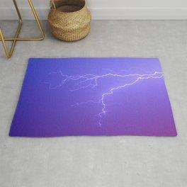 Purple Sky and White Lightening Rug
