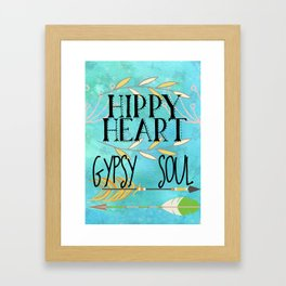 Hippy Heart Gypsy Soul Framed Art Print