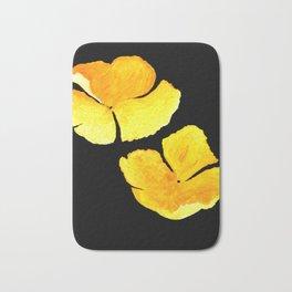 Oenothera, yellow flowers acrylic on canvas Bath Mat