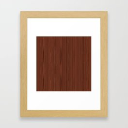Walnut Wood Texture Framed Art Print