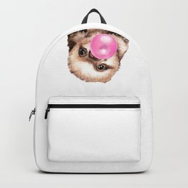 Baby Sloth Playing Bubble Gum Backpack