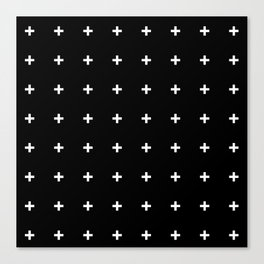 White Plus on Black /// www.pencilmeinstationery.com Canvas Print