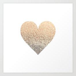 GOLD HEART Kunstdrucke
