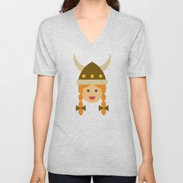 a viking girl Unisex V-Neck