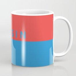Tessin region switzerland country flag name text swiss Coffee Mug