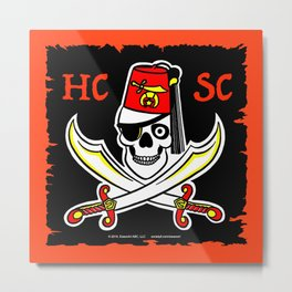 HCSC Pirate Flag Metal Print