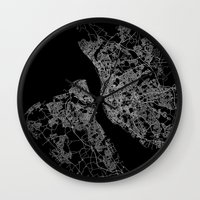 liverpool Wall Clocks featuring Liverpool by Line Line Lines