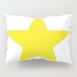 Yellow star on white Pillow Sham