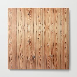 Kyoto Wood Metal Print