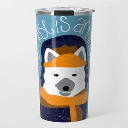 Arctic Fox by Darah King Travel Mug