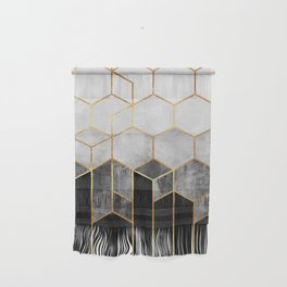 Charcoal Hexagons Wall Hanging