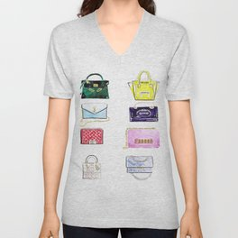 Bags bags bags Unisex V-Neck