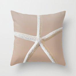 Large Starfish on Sand Throw Pillow