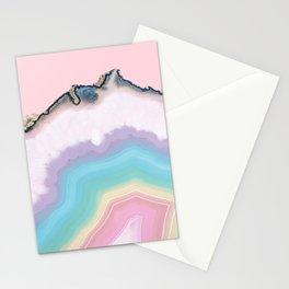 Rainbow Agate Slice Stationery Cards