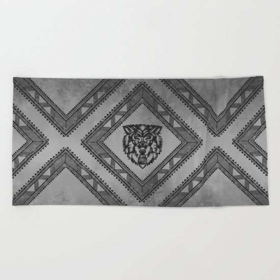 The Wolf Beach Towel