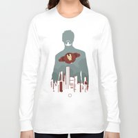 house stark Long Sleeve T-shirts featuring Tony Stark by offbeatzombie