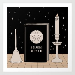 Bell, Book & Candle Art Print