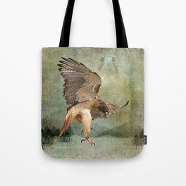Feathered Fury Above Tote Bag