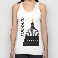 wisconsin Tank Tops featuring Forward Wisconsin by Luther Tenbridges