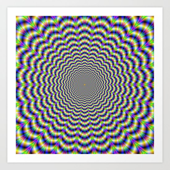 Crinkle Cut Circles Art Print