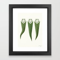 Okra Framed Art Print
