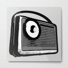 TRANSISTOR RADIO PORTABLE Metal Print