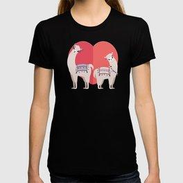 Llama and Alpaca with love T-shirt