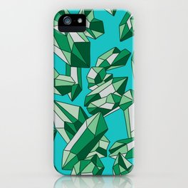 Falling crystals #10 iPhone Case