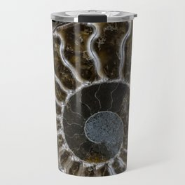 Patterns of ammonite Travel Mug