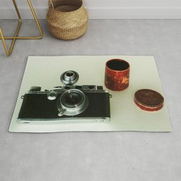 vintage photo camera Rug